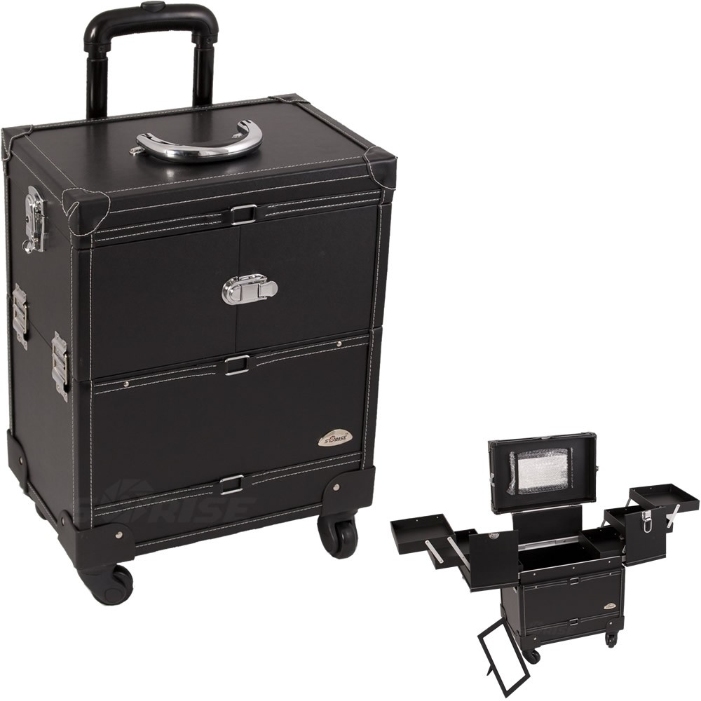 Sunrise Justcase Leather Rolling Makeup Train Cosmetic