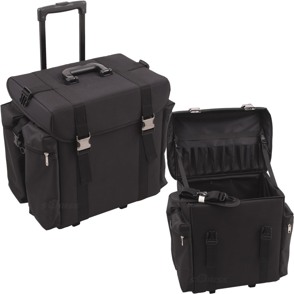 211b1eee35b Sunrise C6402 Soft Side Trolley 1680d Rolling Hairstylist Makeup Train Case.