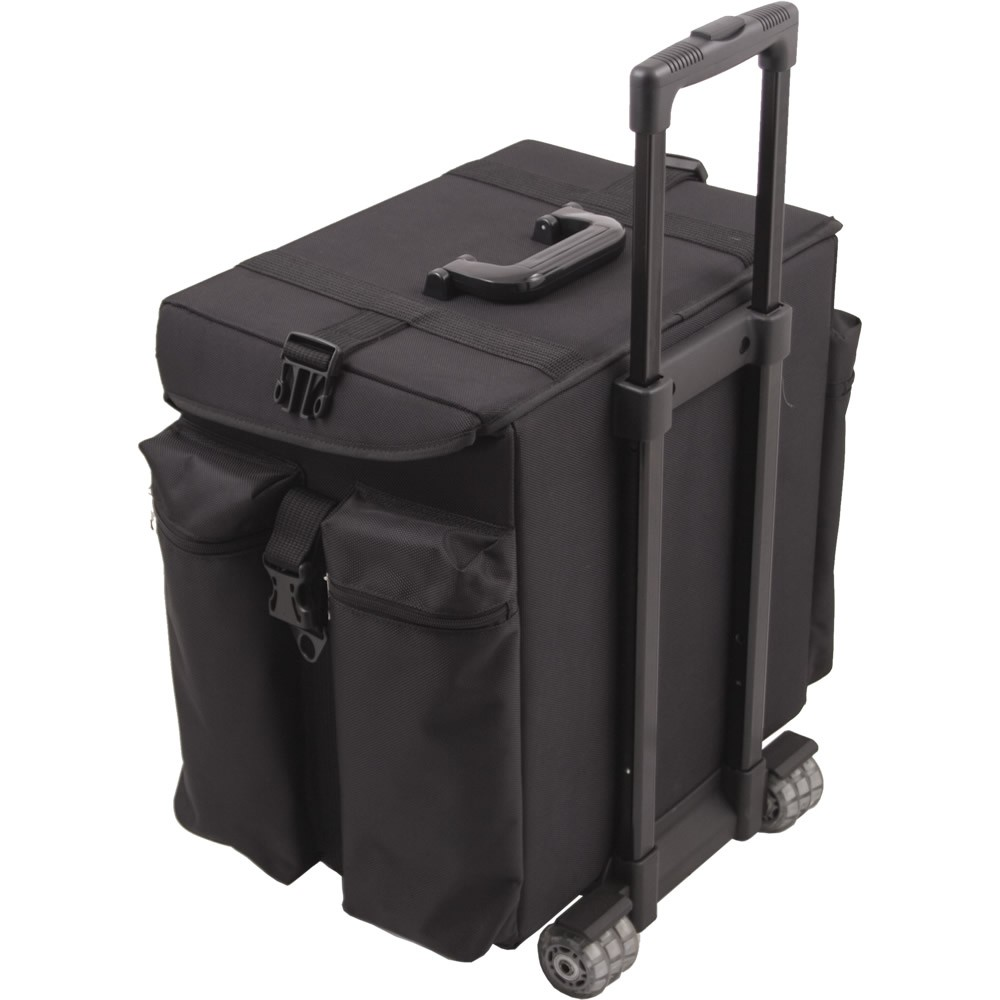 5d33ddc6f8a ... Sunrise C6402 Soft Side Trolley 1680d Rolling Hairstylist Makeup Train  Case ...