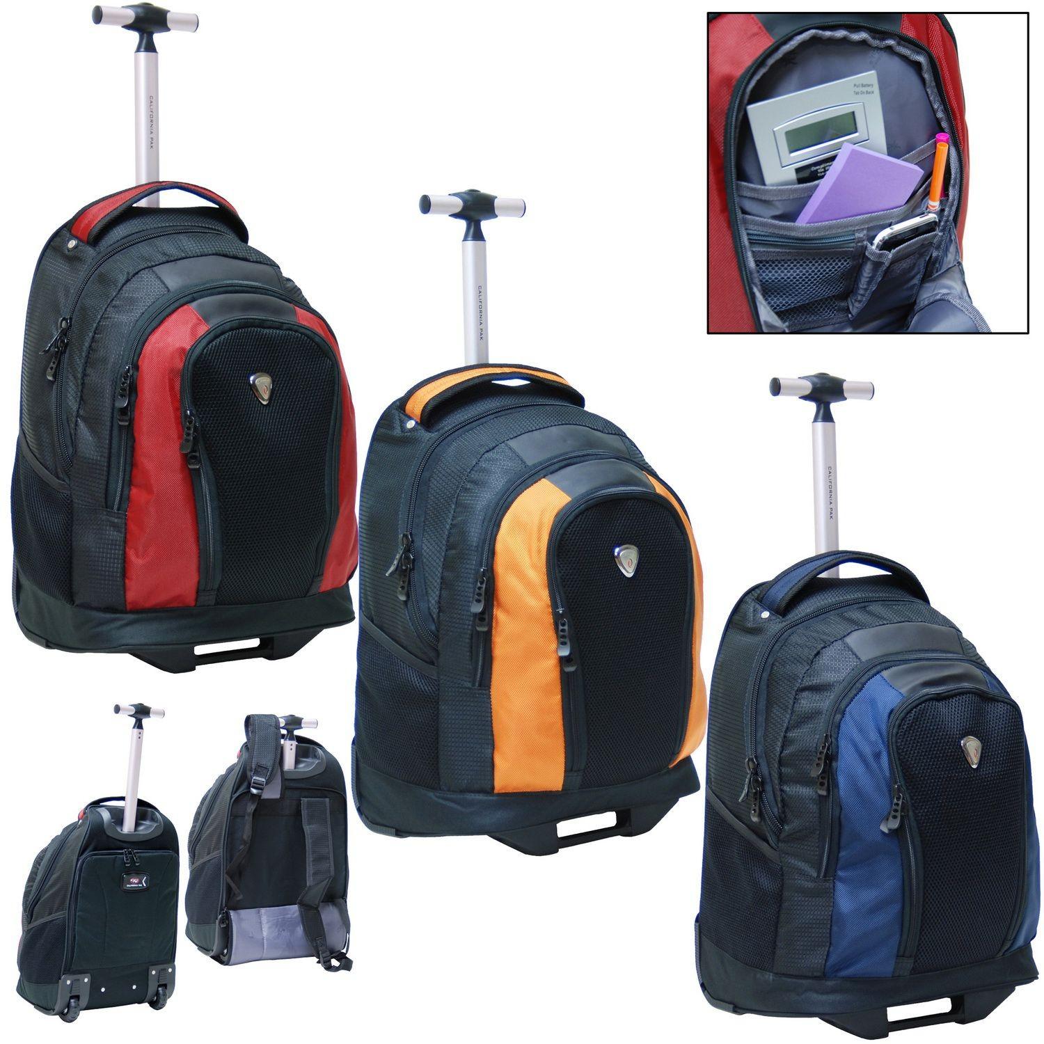 Calpak Rbp015 18 Inch Element Rolling Backpack