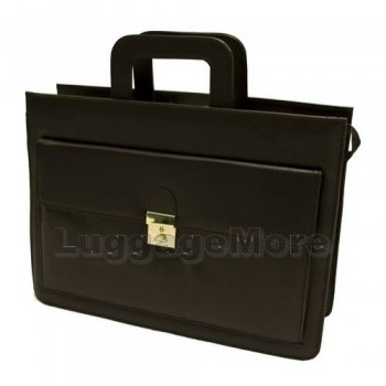 Transworld 9008 17-inch Black Briefcase