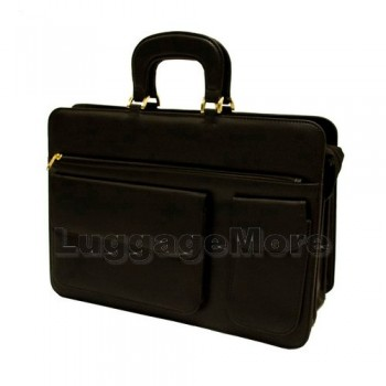 Transworld 9011 17-inch Black Briefcase