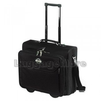 "Transworld 9249 Overnight Laptop Computer Rolling Briefcase for 15.4"" Laptop"