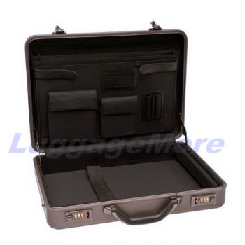 "Transworld AL70 18-inch Aluminum Attache Briefcase for 17"" Laptop"