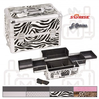 Sunrise E3301 Interchangeable Aluminum Artist Cosmetic Beauty Makeup Train Case