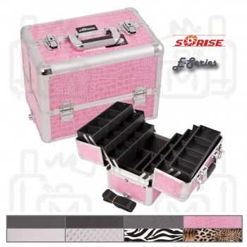 Sunrise E3304 Interchangeable Aluminum Artist Cosmetic Beauty Makeup Train Case