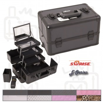 Sunrise E3305 Interchangeable Aluminum Artist Cosmetic Beauty Makeup Train Case