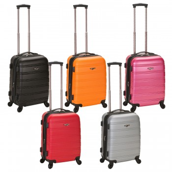 "Rockland MELBOURNE 20"" Expendable ABS Carry On Spinner Suitcase"