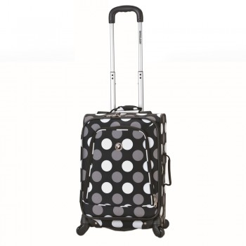 Rockland F181-BLACK DOT 20 in. Spinner Carry On