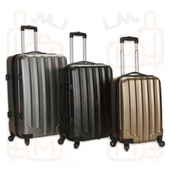 Rockland Santa Fe Light Weight 3-piece Hardside Spinner Upright Luggage Set