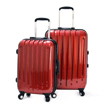 Olympia Dynasty 2-piece ALUMINUM framed Spinner Upright Luggage Set