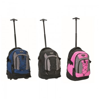 Rockland R03 19-inch Deluxe Outdoor Rolling Backpack BookBag