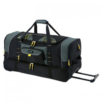 "Travelers Club 93036 SIERRA MADRE 36"" 2-Section Drop Bottom Rolling Duffel Bag"