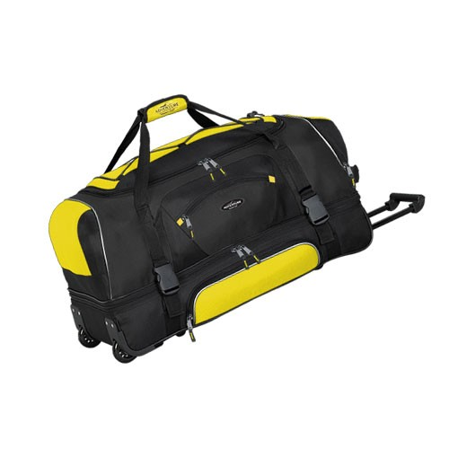 Tprc Travelers Club 57030 Adventure 30 2 Section Drop Bottom Rolling Duffel Bag