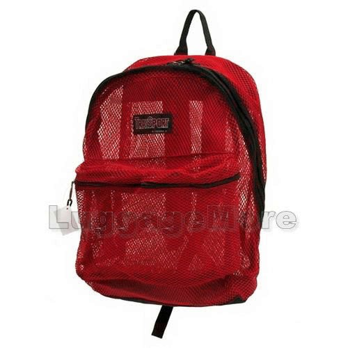 Transworld 4036 17 Inch Mesh See Through Backpack Book