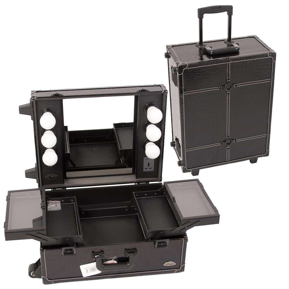 Sunrise Justcase Pro Studio Makeup Rolling Cosmetic Train