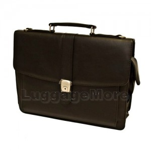 Transworld 9073 16-inch Black Briefcase