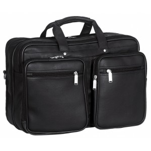 "Transworld 9076 17-inch Black Expandable Briefcase for 15.4"" Laptop"