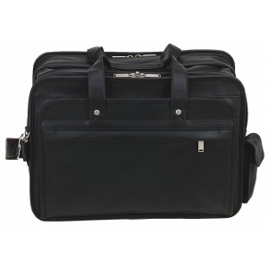 "Transworld 9082 17-inch Black Expandable Briefcase for 15.4"" Laptop"