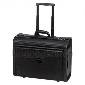Transworld 9407 19-inch Rolling Pilot Catalog Briefcase Lawyer Case
