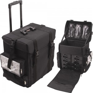 Sunrise C6024 Soft Side Trolley 1680d Nylon Rolling Makeup Train Case
