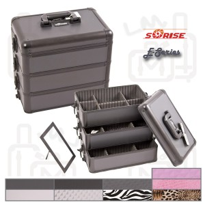 Sunrise E3303 Interchangeable Aluminum Artist Cosmetic Beauty Makeup Train Case