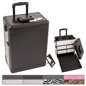 Sunrise E6302 Aluminum Rolling Artist Cosmetic Makeup Beauty Train Drawer Case
