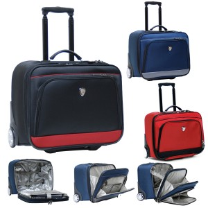 "CalPak LSU3017 SUITOR Rolling Briefcase for 16"" Laptop"