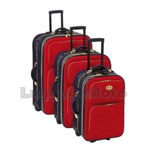 Transworld E 2500 3-Piece Expandable Rolling Upright Luggage Set