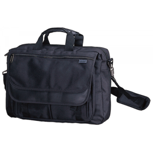 Amaro 61203 17-inch Black Corporate Briefcase