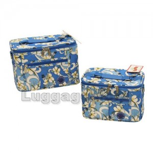Transworld 621113 2-Piece Floral Cosmetic Case Set