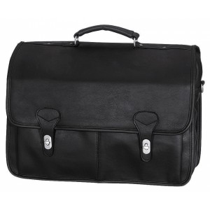 "Transworld 9072 17-inch Black Briefcase for 15.4"" Laptop"
