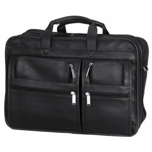 "Transworld 9078 17-inch Black Briefcase for 15.4"" Laptop"