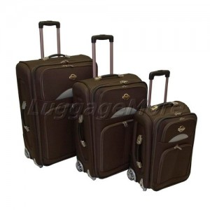 Transworld 7200 3-Piece Expandable Upright Luggage Set
