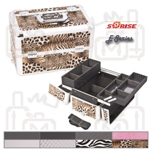 Sunrise E3302 Interchangeable Aluminum Artist Cosmetic Beauty Makeup Train Case
