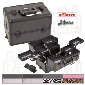 Sunrise E3306 Interchangeable Aluminum Artist Cosmetic Beauty Makeup Train Case