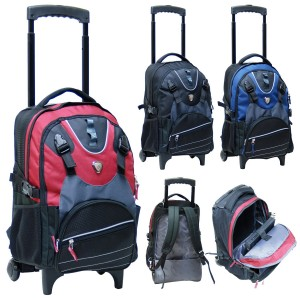 "CalPak K901RP Outlaw Deluxe Rolling Backpack For 15.4"" Laptop"