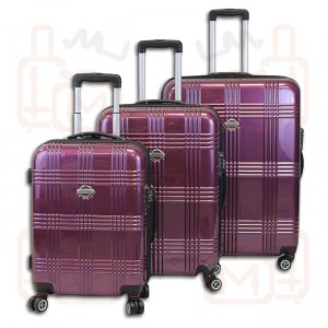 Transworld 9300 3-Piece 360 Expandable Spinner Upright Luggage Set w/ TSA Lock
