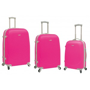Travelers Club 65003 3-Piece Barnet 4 Wheel Spinner Luggage Set