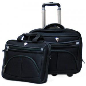 "CalPak RBO140 CEO Rolling Briefcase w/Deluxe Laptop Sleeve for 15.4"" Laptop"