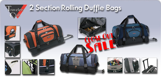 2 Section Duffle Bags